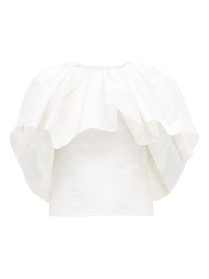 Marques Almeida ruffled satin cape top