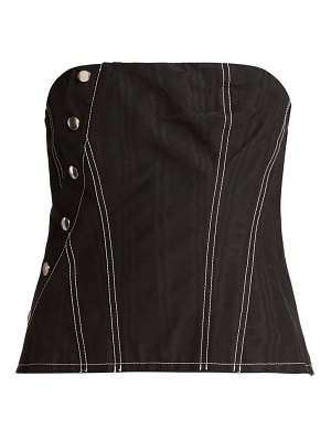 Marques Almeida snap cotton-blend corset