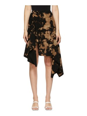 Marques Almeida ssense exclusive black and brown draped tie-dye skirt