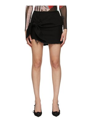 Marques Almeida ssense exclusive  knotted mini skirt