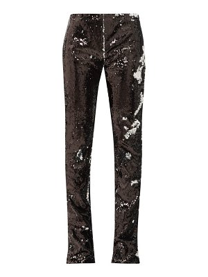 Marques Almeida two way sequinned bootcut trousers