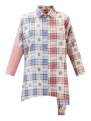 Marques Almeida upcycled checked cotton shirt