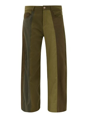 Marques Almeida upcycled deconstructed panelled wide-leg trousers