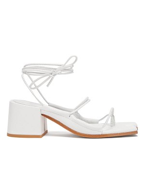 Marques Almeida wraparound ankle strap block heel leather sandals