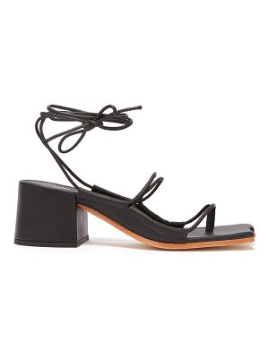 Marques Almeida wraparound ankle strap block heel sandals