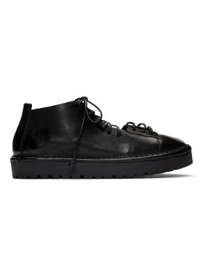 Marsell black gomme sancrispa alta pedula oxfords