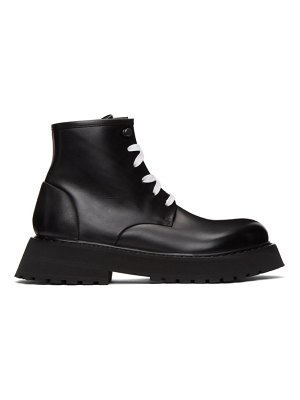 Marsell black micarro ankle boots