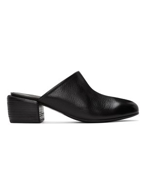 Marsell black tondello block heel mules