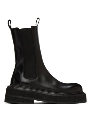 Marsell black zuccone chelsea boots