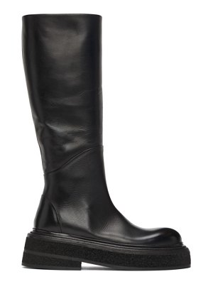 Marsell black zuccone mid-calf boots