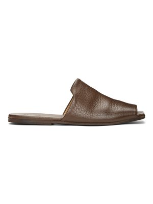 Marsell brown spatola sandals