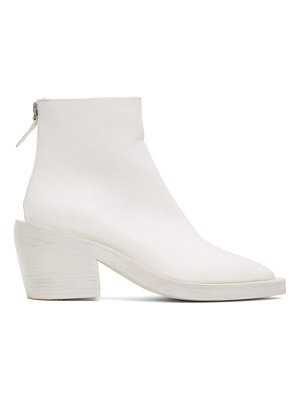 Marsell ssense exclusive white coneros boots