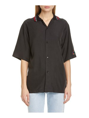 MARTINE ROSE barrett oversize logo collar shirt