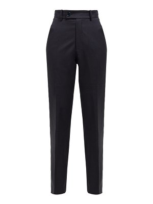 MARTINE ROSE checked wool-twill trousers
