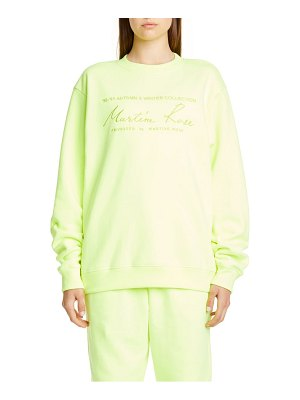 MARTINE ROSE classic crewneck sweatshirt