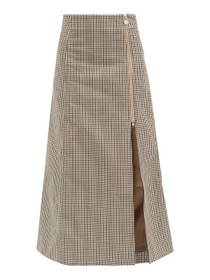 MARTINE ROSE cocorico checked cotton-blend skirt