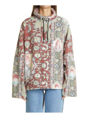 MARTINE ROSE portrait print fleece pullover