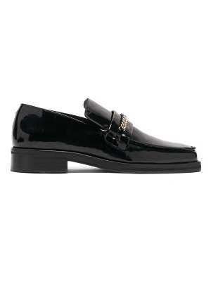 MARTINE ROSE roxy curb-chain patent-leather loafers