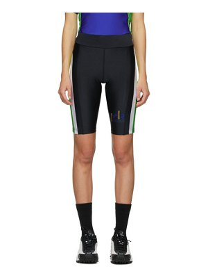 MARTINE ROSE ssense exclusive black & blue cycling shorts