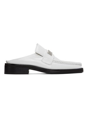 MARTINE ROSE ssense exclusive  patent leather loafers