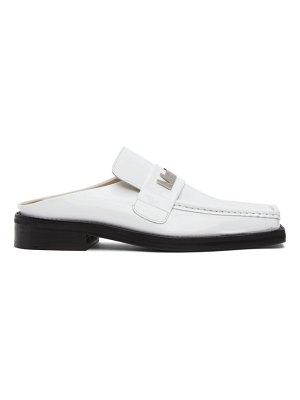 MARTINE ROSE ssense exclusive  patent martine loafers