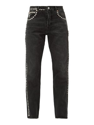 MARTINE ROSE studded straight-leg jeans