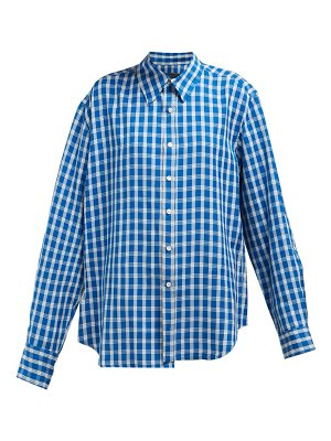 MARTINE ROSE wonky checked shirt