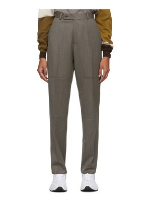 MARTINE ROSE wool panelled tailored trousers
