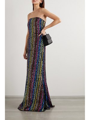 Mary Katrantzou ava strapless sequined tulle gown