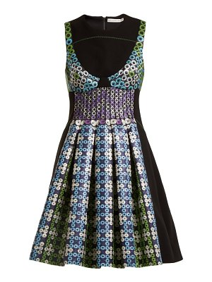 Mary Katrantzou narcisse circle-jacquard dress