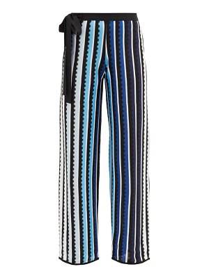 Mary Mare rego high-rise striped straight-fit trousers