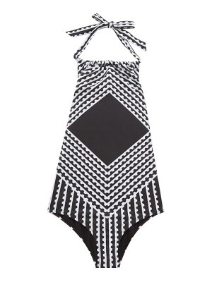 Mary Mare maurice halterneck striped swimsuit