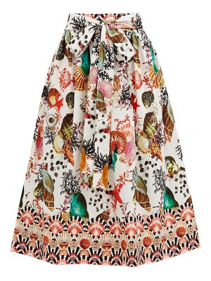 Mary Mare paloma shell-print cotton-blend midi skirt