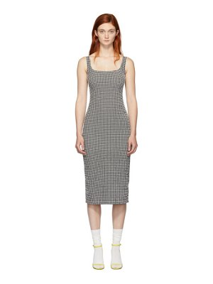 Maryam Nassir Zadeh ssense exclusive black and white check salma dress