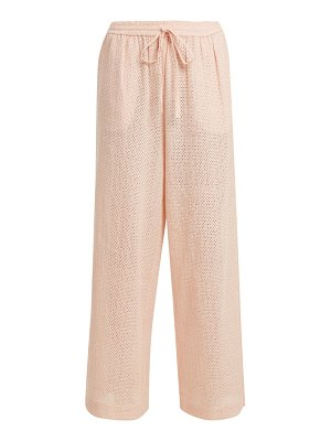 Marysia Swim embroidered cotton wide leg trousers