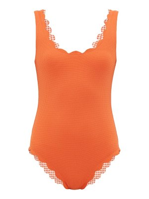 Marysia Swim palm spring reversible scallop edged swimsuit
