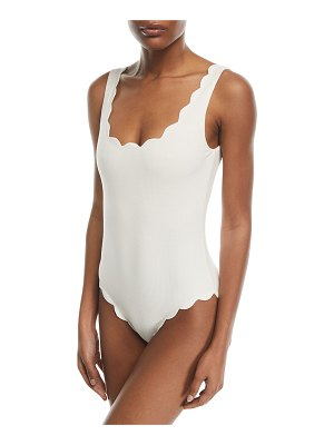 Marysia Swim Palm Springs Scalloped One-Piece Swimsuit