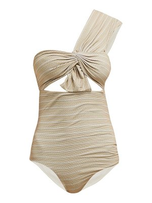 Marysia Swim venice one shoulder cut out swimsuit
