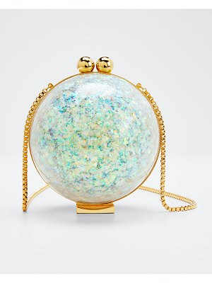 Marzook Orb Flaked Minaudere Clutch Bag