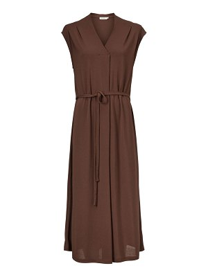 Masai Otalia V-Neck Midi Belted Dress
