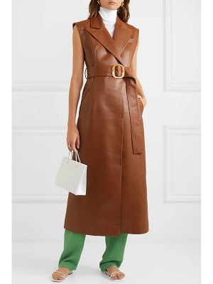 MATERIEL belted vegan leather dress