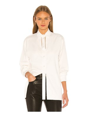 MATERIEL button down with slits