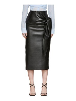 Materiel Tbilisi faux-leather waist tie skirt