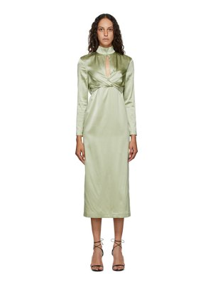 Materiel Tbilisi green silk wrap dress
