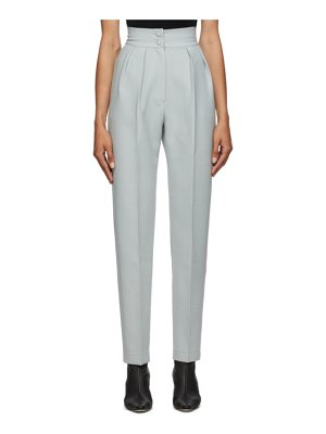 Materiel Tbilisi grey wool high-waist trousers