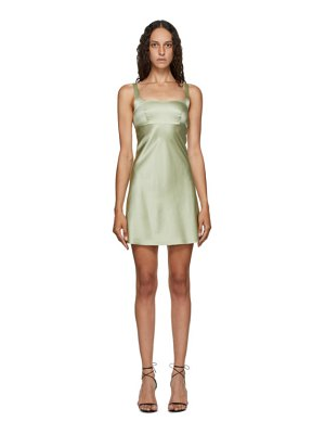 Materiel Tbilisi ssense exclusive green biased cut dress