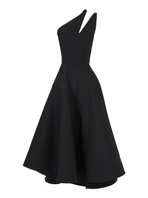 Maticevski meteor cutout one-shouldered crepe dress size: 10