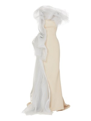 Maticevski starry night organza-trimmed crepe gown size: 8