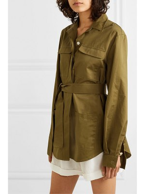 MATIN belted cotton-twill jacket