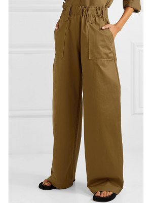 MATIN cotton-twill wide-leg pants